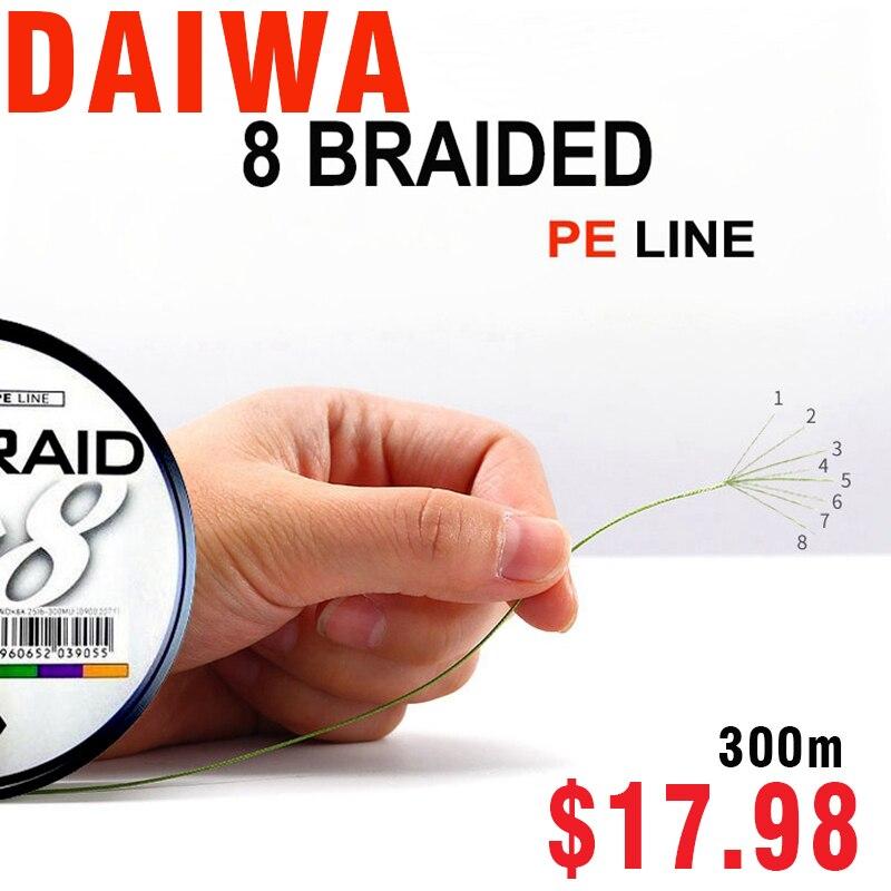 SEA FISHING  J-BRAID 8A 300M 3 COLORS  8 wire braid line monofilament 30-100lb fishing line made in japan pesca